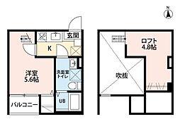 愛知県名古屋市守山区守山1丁目の賃貸アパートの間取り