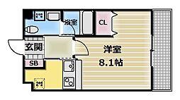 Ritz小阪[6階]の間取り