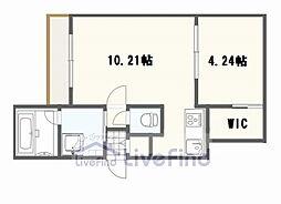 札幌市営東西線 南郷13丁目駅 徒歩7分の賃貸マンション 2階1LDKの間取り