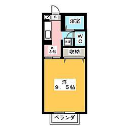 エクセール松岡A[1階]の間取り