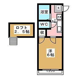 インテリジェント富沢[2階]の間取り