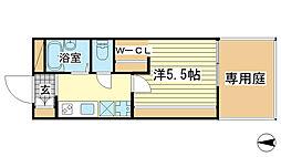 兵庫県姫路市御立東5の賃貸アパートの間取り