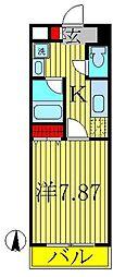 オアゾ桜台[4階]の間取り