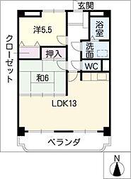 シャルマン富士塚[3階]の間取り