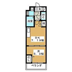 吉祥院マンション(仮) 3階1DKの間取り