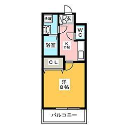エンクレスト博多駅前III[5階]の間取り