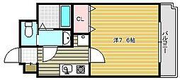 ラグゼ茨木II[310号室]の間取り