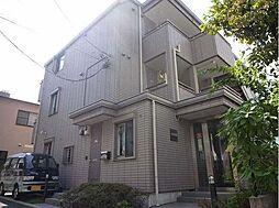 東京都新宿区市谷薬王寺町の賃貸アパートの外観