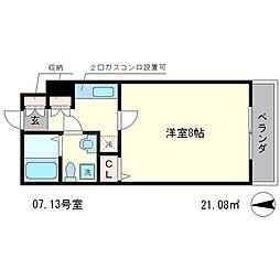 デアッシュ西京極[3階]の間取り