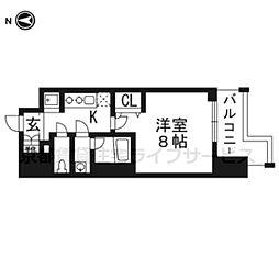 ベラジオ五条堀川II904号室[9階]の間取り