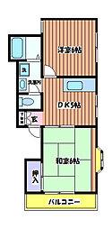 サンバレー[2階]の間取り