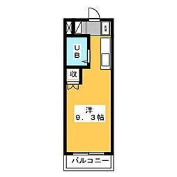 磐田グレイス第3マンション[1階]の間取り