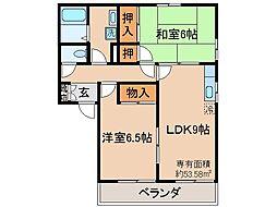 京都府京都市伏見区淀際目町の賃貸アパートの間取り