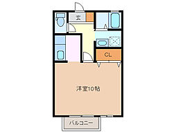 三重県鈴鹿市三日市町の賃貸アパートの間取り
