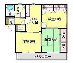 宮崎県宮崎市一の宮町の賃貸アパートの間取り