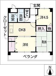STEP井上[2階]の間取り