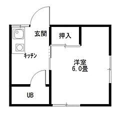 東京都江戸川区南葛西6丁目の賃貸アパートの間取り
