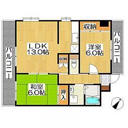 サンライフマンション[3階]の間取り