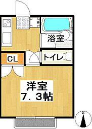 育栄荘B棟[107号室]の間取り