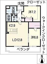ソレイユ II[3階]の間取り