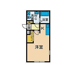 リトルプレイス[2階]の間取り