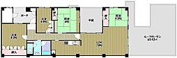 泉北鴨谷台3丁住宅5号棟[2階]の間取り