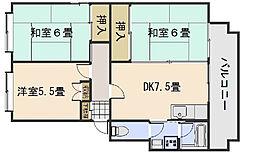 広島県広島市西区井口4丁目の賃貸マンションの間取り