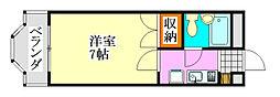 ジュネパレス津田沼第17[309号室]の間取り