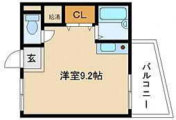 ウィン長滝駅前パート1[2階]の間取り