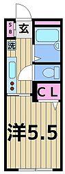 ベルシエロ亀有[2階]の間取り