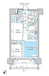 ディームス渋谷本町 4階2LDKの間取り
