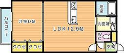 MOON赤坂A棟[2階]の間取り