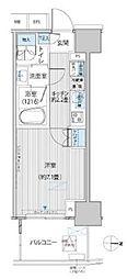 東京メトロ千代田線 新御茶ノ水駅 徒歩1分の賃貸マンション 13階1Kの間取り