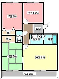 サンライズ弥栄III[3階]の間取り