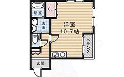 GKビル 4階ワンルームの間取り