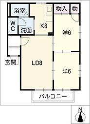 カーサJI[2階]の間取り