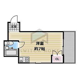 シャンスー源氏ヶ丘[1階]の間取り