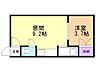 間取り,1DK,面積27.3m2,賃料3.0万円,バス くしろバス鳥取北6丁目下車 徒歩5分,,北海道釧路市昭和南5丁目7-3