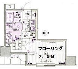 パークウェル神田EAST弐番館[11階]の間取り