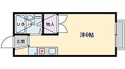 ハイツ北松川[203号室]の間取り