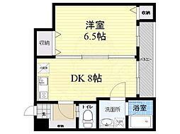 京王線 千歳烏山駅 徒歩5分の賃貸マンション 1階1DKの間取り