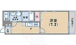 JR東海道・山陽本線 甲子園口駅 徒歩8分の賃貸マンション 3階1Kの間取り