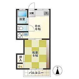 布田第1アパート[2号室]の間取り