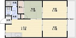 シャトーバロン[4階]の間取り