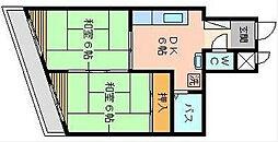藤本ビル古船場[602号室]の間取り