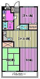 プレステージマンション191[2階]の間取り