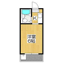 桃山フラット[303号室]の間取り