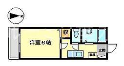 メゾンドブリューム[2階]の間取り