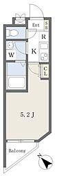 京急空港線 糀谷駅 徒歩2分の賃貸マンション 2階1Kの間取り
