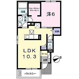 東京都武蔵野市境南町2丁目の賃貸アパートの間取り